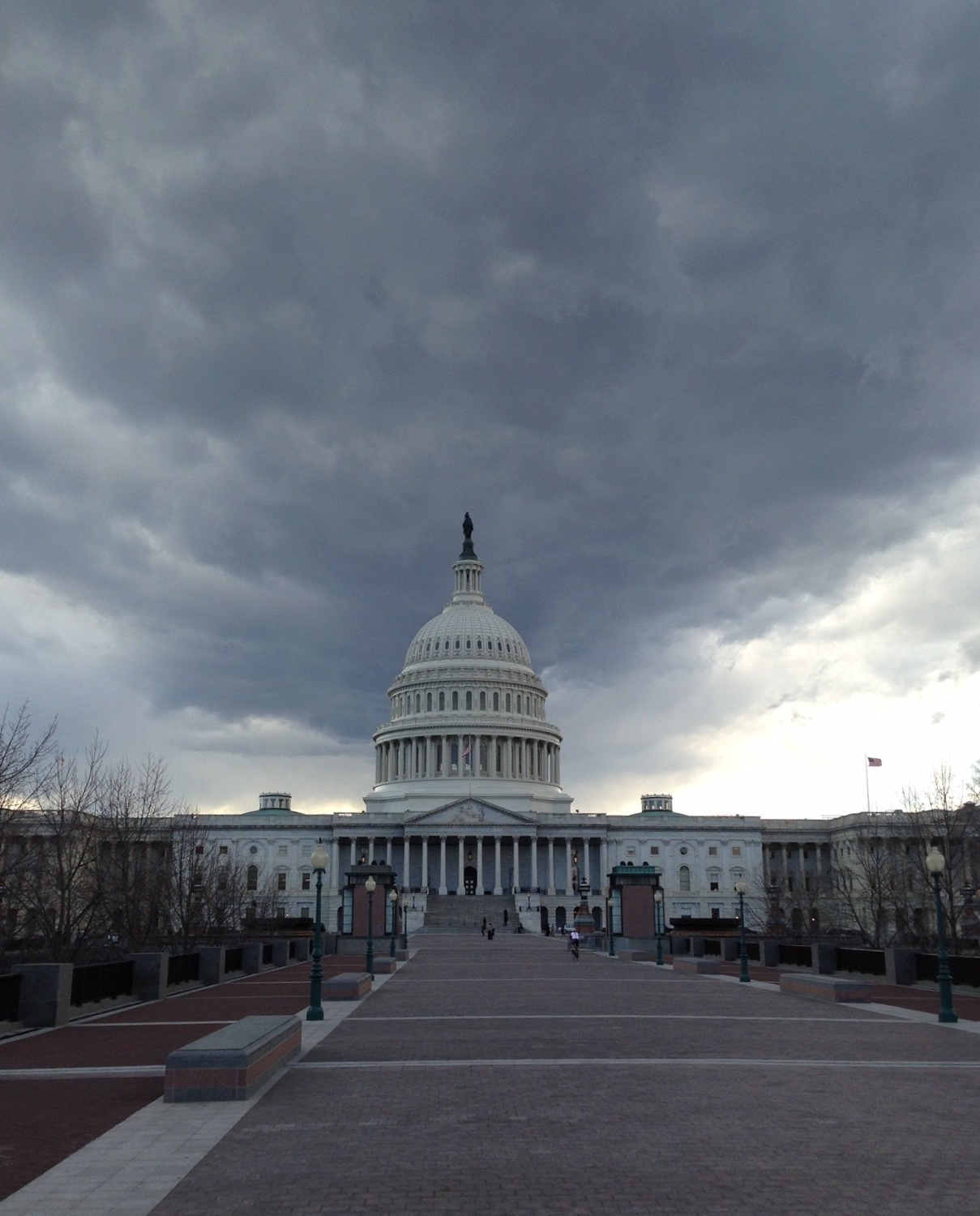 Storm clouds over DC