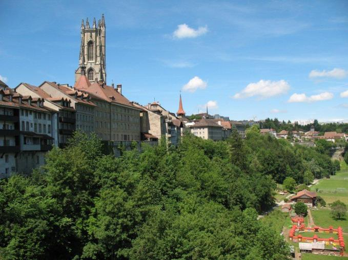 Fribourg and cathedral