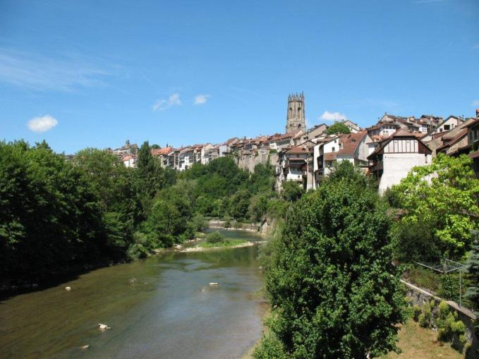 Fribourg from basse ville bridge
